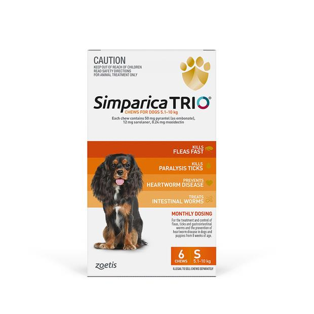 Simparica Trio Small 2 X 6 Pack Pet: Dog Category: Dog Supplies  Size: 1kg  Rich Description: Simparica...