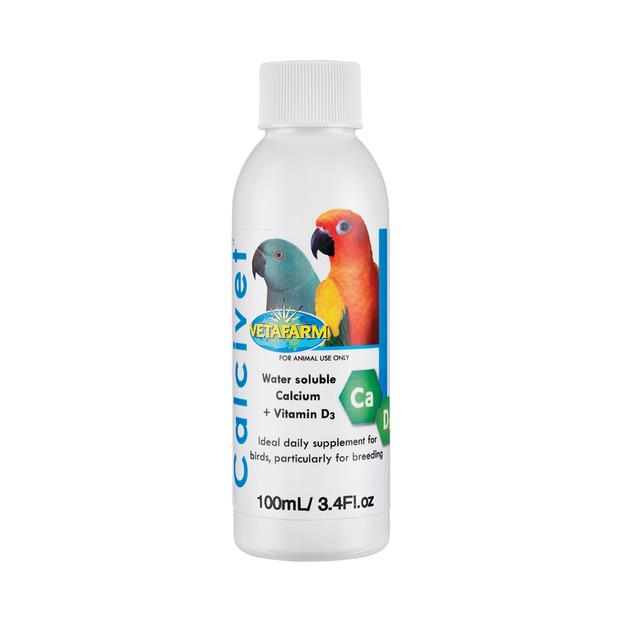 Vetafarm Bird Calcivet 250ml Pet: Bird Category: Bird Supplies  Size: 0.3kg  Rich Description: Calcivet...