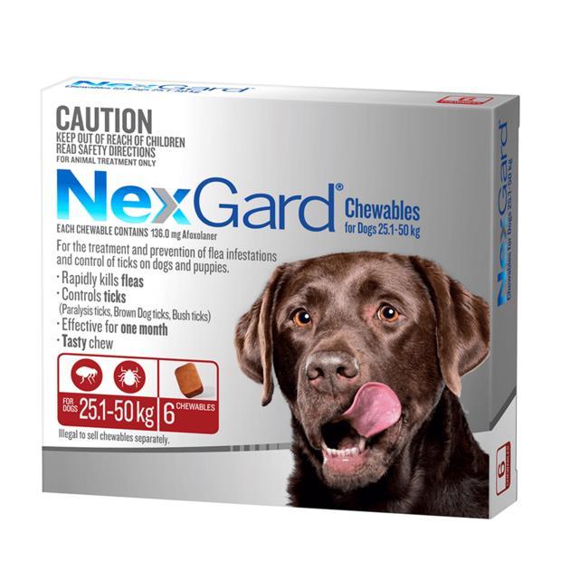 Nexgard Large 6 Pack Pet: Dog Category: Dog Supplies  Size: 0.2kg  Rich Description: Nexgard is a tasty...