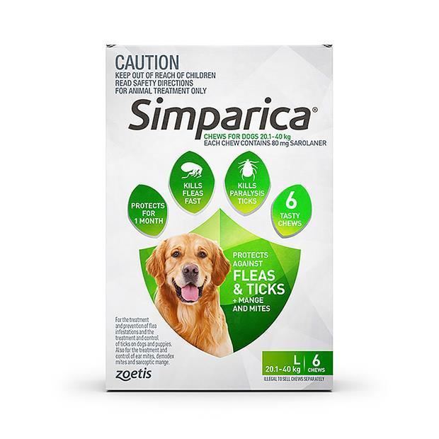 Simparica Flea Tick Chews Large Dog 6 Pack Pet: Dog Category: Dog Supplies  Size: 0.5kg  Rich...