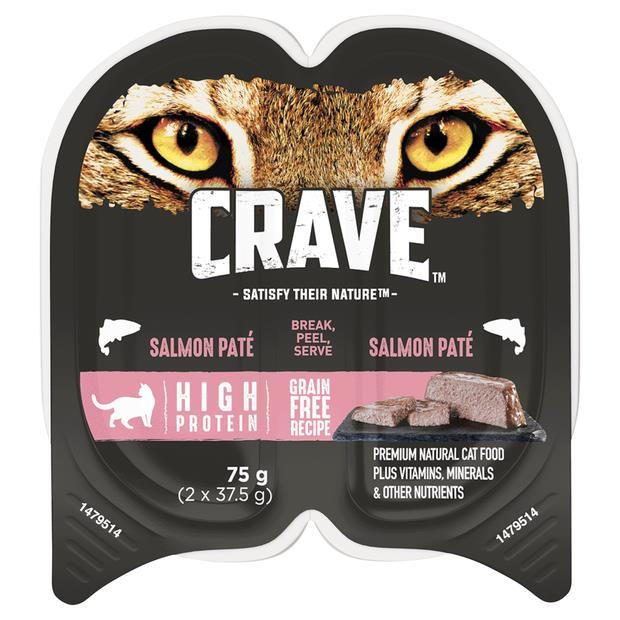 Crave Wet Cat Food Salmon Pate Tray 24 X 75g Pet: Cat Category: Cat Supplies  Size: 2.2kg  Rich...