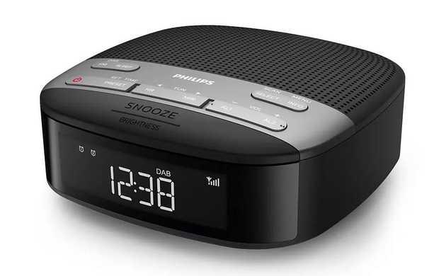 DAB+ Dual alarm Crackle-free radio reception Sleep Timer Auto time sync Gentle Wake Display: LCD Type:...
