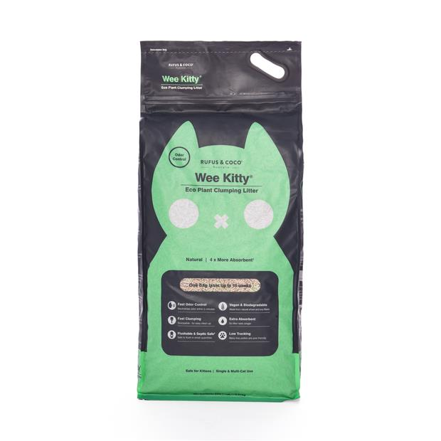 Rufus And Coco Wee Kitty Eco Plant Litter 2 X 9kg Pet: Cat Category: Cat Supplies  Size: 18.2kg...