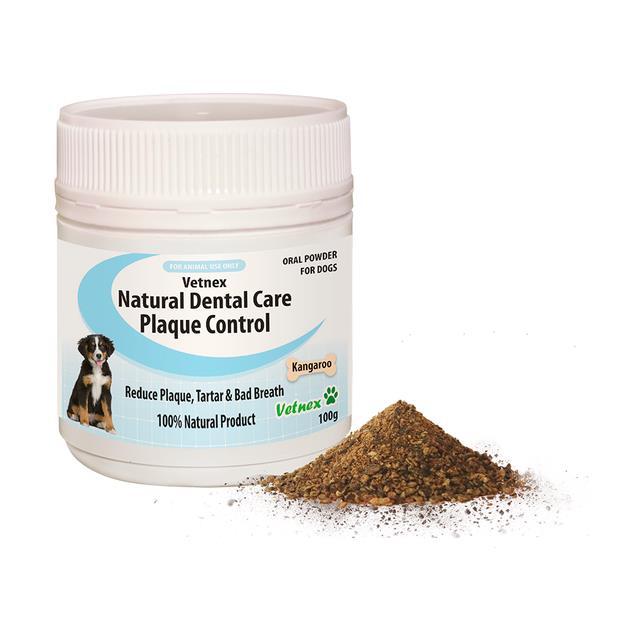 Vetnex Natural Dental Care Plaque Control Powder Kangaroo 100g Pet: Dog Category: Dog Supplies  Size:...