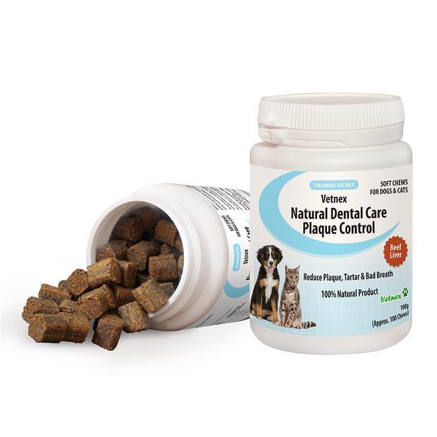 Vetnex Natural Dental Care Plaque Control Soft Chews Beef Liver 100g (100 Chews) Pet: Dog Category: Dog...