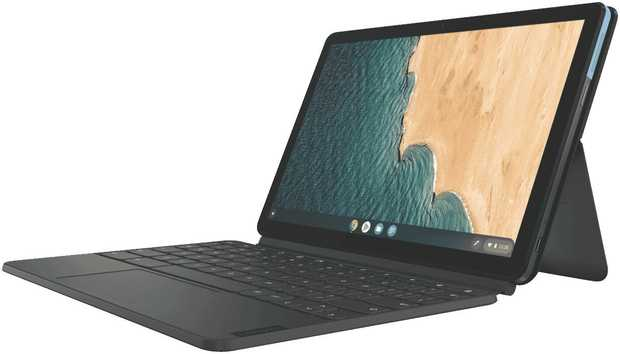 This Lenovo Chromebook laptop has a 2 GHz MediaTek octa-core processor, so you can play intensive video...