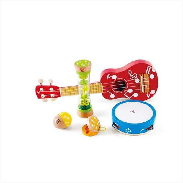 Start making your own music with this beginners instrument set! Learn to play the ukulele...