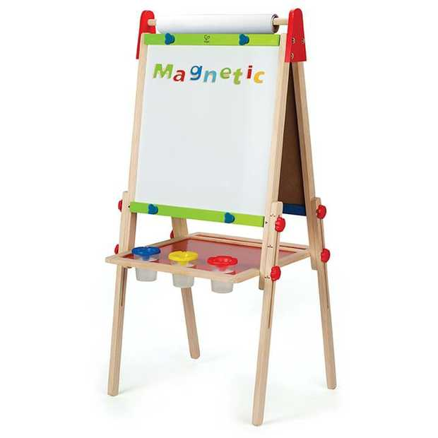 This height adjustable art easel is perfect for the multi-talented artist! Features two sides:...
