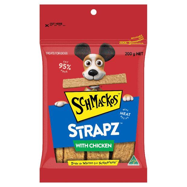 Schmackos Strapz Dog Treat Chicken 200g Pet: Dog Category: Dog Supplies  Size: 0.2kg  Rich Description:...