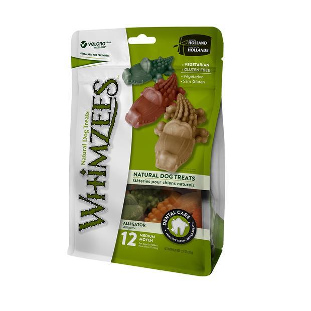 Whimzees Alligator Dental Dog Treats Large Pet: Dog Category: Dog Supplies  Size: 0.4kg  Rich...