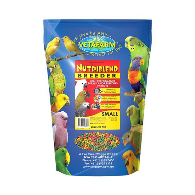 Vetafarm Bird Nutriblend Breeder Pellets 10kg Pet: Bird Category: Bird Supplies  Size: 11kg  Rich...