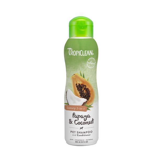 Tropiclean Shampoo Conditioner Papaya Coconut 355ml Pet: Dog Category: Dog Supplies  Size: 0.3kg  Rich...