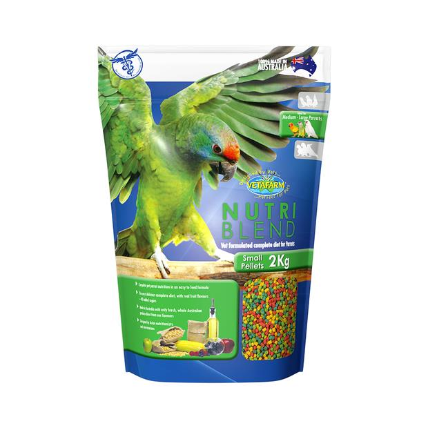 Vetafarm Nutriblend Pellets Small 2kg Pet: Bird Category: Bird Supplies  Size: 2kg  Rich Description:...