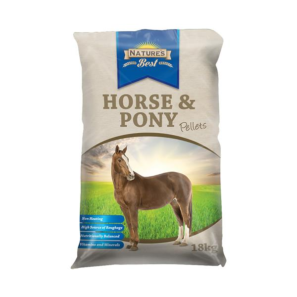 Natures Best Horse And Pony Pellets 18kg Pet: Horse Size: 18kg  Rich Description: Natures Best...