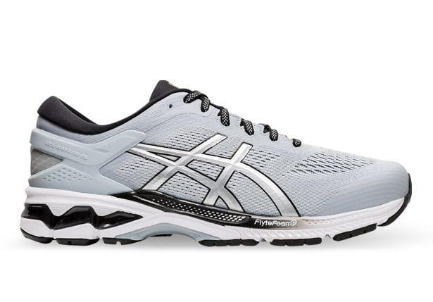 The Men's ASICS GEL-KAYANO 26 running shoe combines luxurious comfort and improved bounce, featuring...