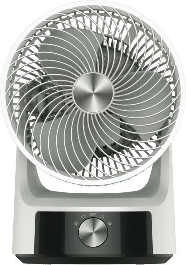 2 speed settings 360° horizontal oscillation Fan head pivots up to 90° Moves air up to 20 metres 7m/s...