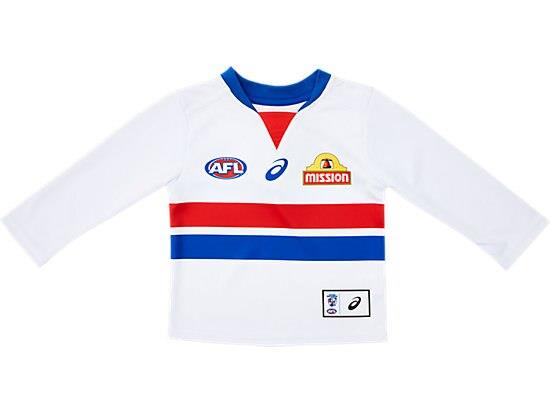 The Infant Replica Home Long Sleeve Clash Guernsey features a lightweight performance polyester with a...