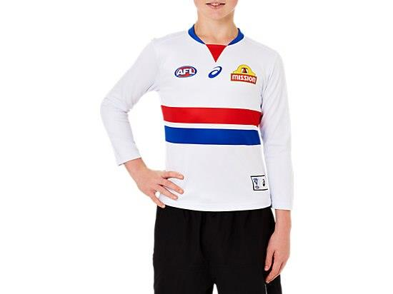 The Youth Replica Home Long Sleeve Clash Guernsey features a lightweight performance polyester with a...