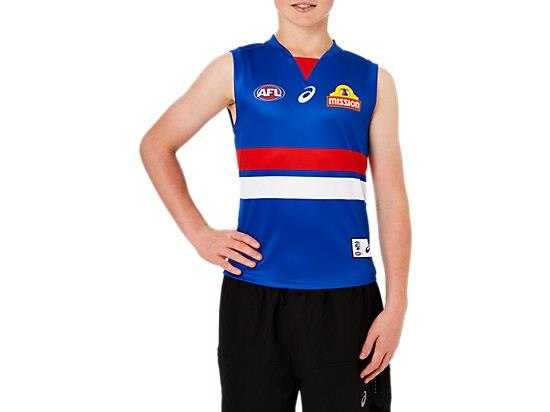 The Youth Replica Home Guernsey features a lightweight performance polyester with a shoulder panel...