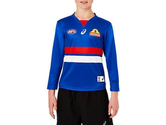 The Youth Replica Home Long Sleeve Guernsey features a lightweight performance polyester with a...