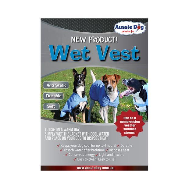 Aussie Dog Wet Vest Medium Pet: Dog Category: Dog Supplies  Size: 0.2kg Colour: Blue  Rich Description:...
