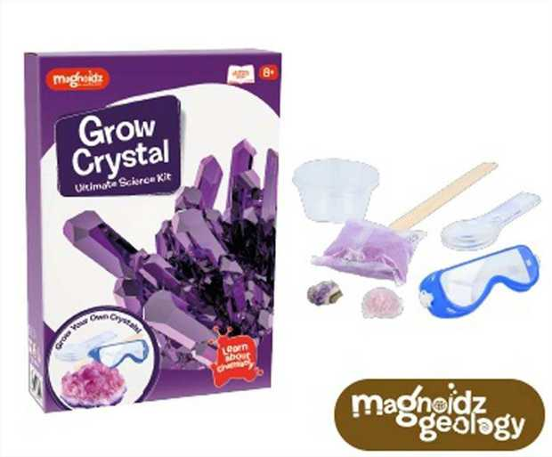 Magnoidz Crystal Growing Kit - contains all you need to grow crystals! Combining science and...
