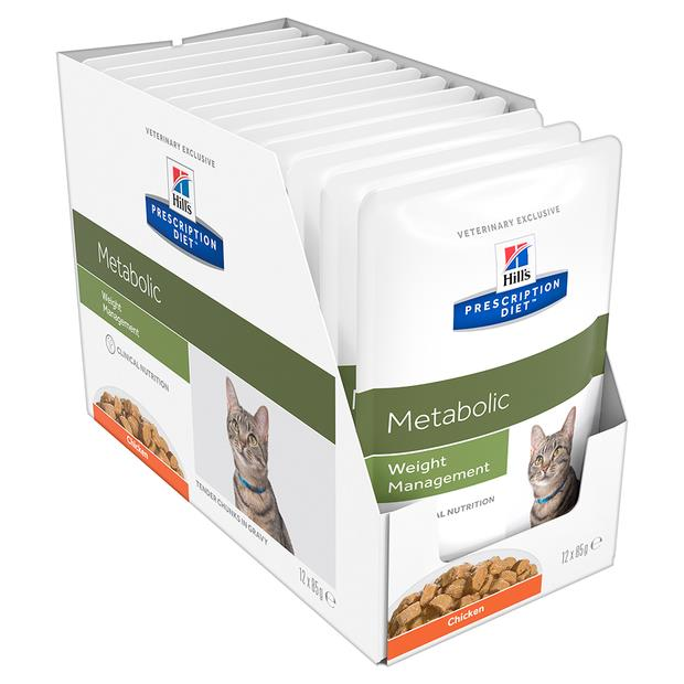 Hills Prescription Diet Metabolic Cat Food Pouches 12 X 85g Pet: Cat Category: Cat Supplies  Size: 1kg...