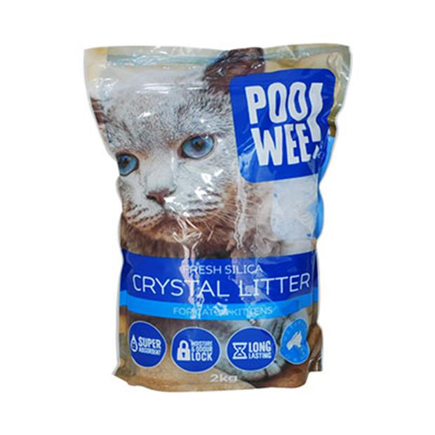 Poowee Litter Fresh Crystals 2kg Pet: Cat Category: Cat Supplies  Size: 2kg Material: Silica  Rich...