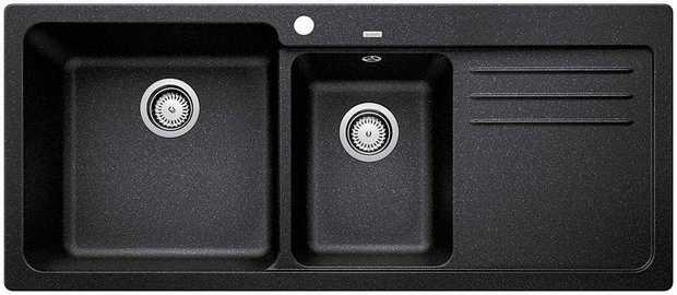 37L/20L main/secondary bowl capacity SILGRANIT PuraDur Hygiene + Plus™ Maximum Bowl Size Designer...