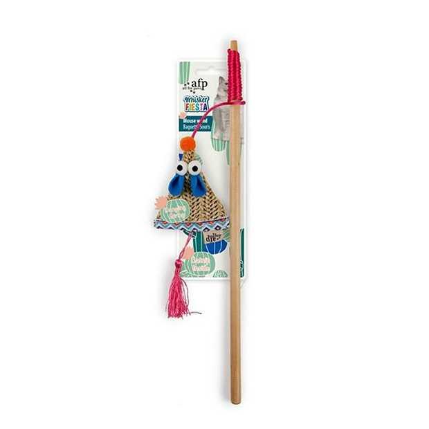 Afp Whisker Fiesta Mouse Wand Each Pet: Cat Category: Cat Supplies  Size: 0.1kg Colour: Multi  Rich...