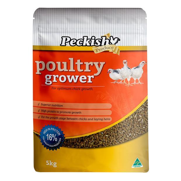 Peckish Poultry Grower 5kg Pet: Bird Category: Bird Supplies  Size: 5.2kg  Rich Description: Made in...