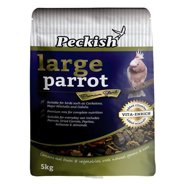 Peckish Large Parrot Fruit And Nut Premium Blend 5kg Pet: Bird Category: Bird Supplies  Size: 5.2kg...
