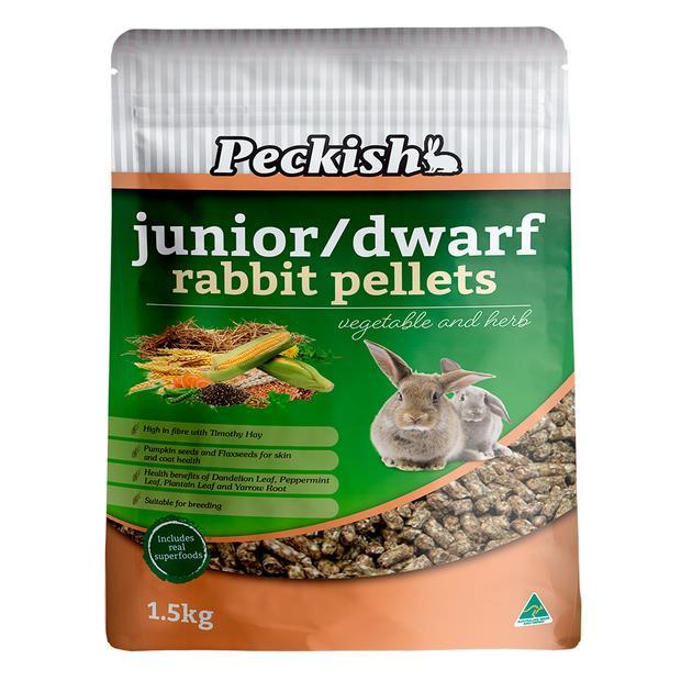 Peckish Junior Dwarf Rabbit Pellets 4.5kg Pet: Small Pet Category: Small Animal Supplies  Size: 1.3kg...