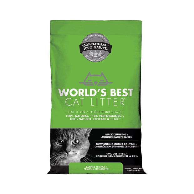 Worlds Best Cat Litter Clumping 6.35kg Pet: Cat Category: Cat Supplies  Size: 6.3kg Material: Corn...