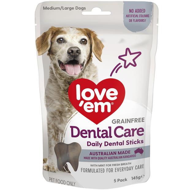 Love Em Dental Sticks 145g Pet: Dog Category: Dog Supplies  Size: 0.2kg  Rich Description: Show your...