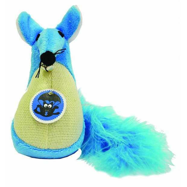 Scream Cat Toy Fatty Mouse Blue Each Pet: Cat Category: Cat Supplies  Size: 0.4kg Colour: Blue  Rich...