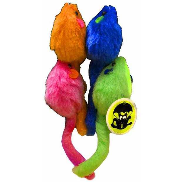 Scream Cat Toy Mice Multi Colour 4 Pack Pet: Cat Category: Cat Supplies  Size: 0.2kg Colour: Multi...