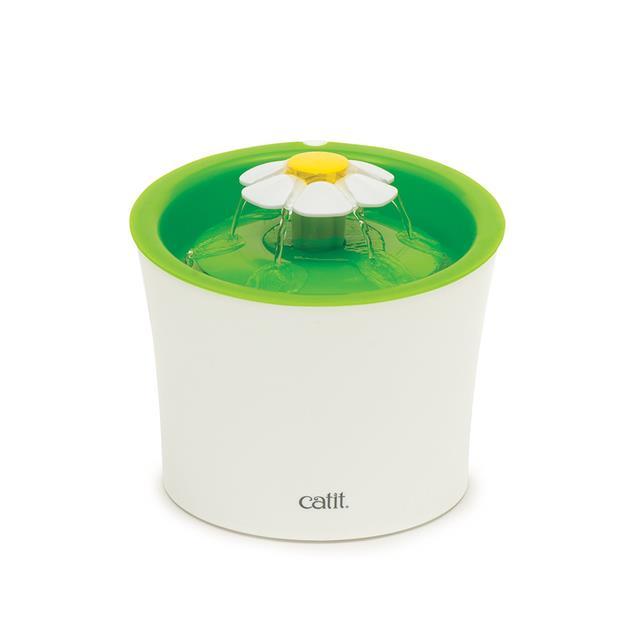Catit Senses Flower Water Fountain Each Pet: Cat Category: Cat Supplies  Size: 1.1kg Colour: Green...