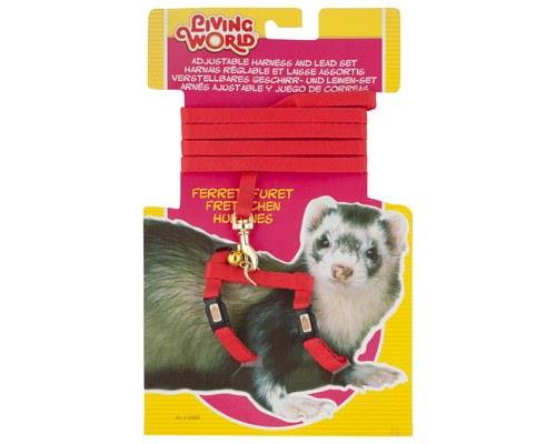 Living World Ferret Harness and Lead Set, Red, One SizeHarness:One size fits most...