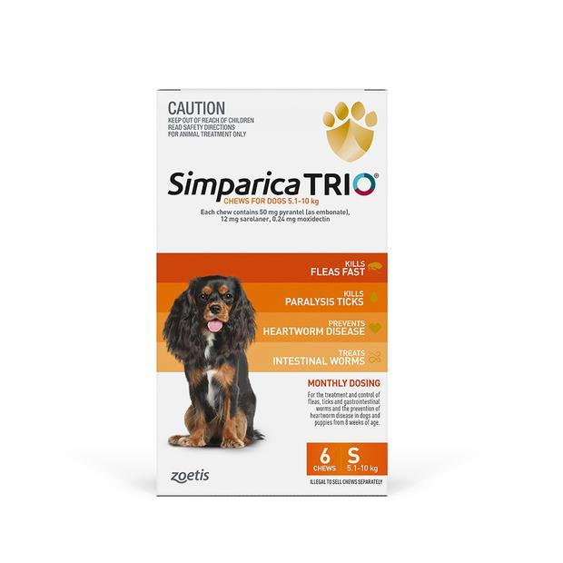Simparica Trio Small 2 X 6 Pack Pet: Dog Category: Dog Supplies  Size: 1kg  Rich Description: Simparica...