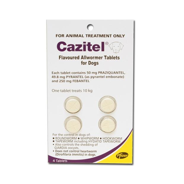 Cazitel Flavoured Allwormer Tablets For Dogs 4 Pack Pet: Dog Category: Dog Supplies  Size: 0.1kg  Rich...
