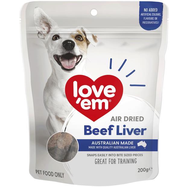 Love Em Air Dried Beef Liver 90g Pet: Dog Category: Dog Supplies  Size: 0.2kg  Rich Description: Show...