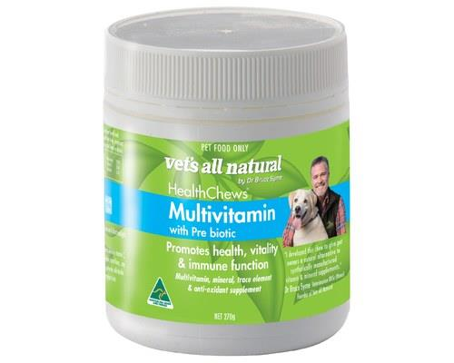 VETS ALL NATURAL HEALTHCHEWS MULTIVITAMIN 270GTo promote health and well being in your dog or cat...