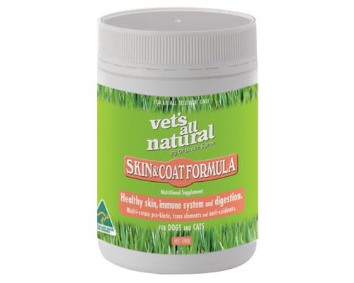 Vets All Natural Skin and Coat Formula Supplement for Dogs and Cats, 250gThis skin and coat supplement...