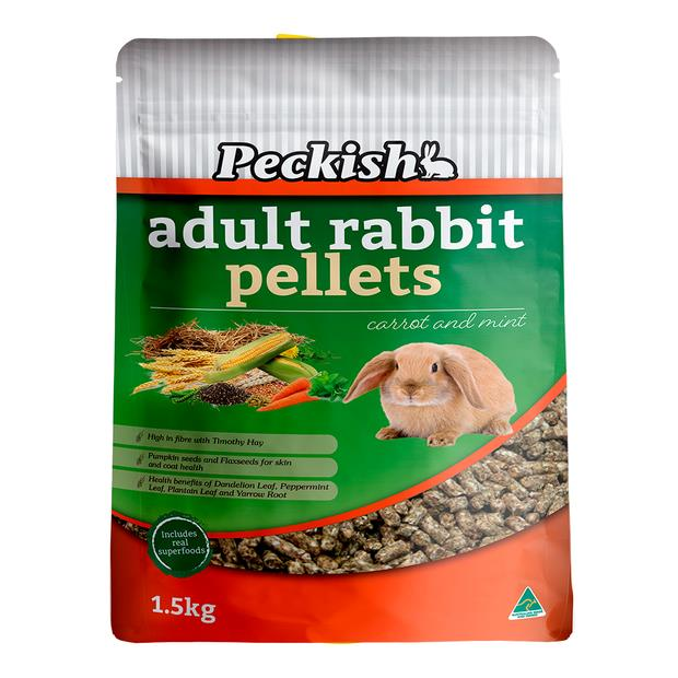 Peckish Adult Rabbit Pellets Carrot And Mint 1.25kg Pet: Small Pet Category: Small Animal Supplies ...