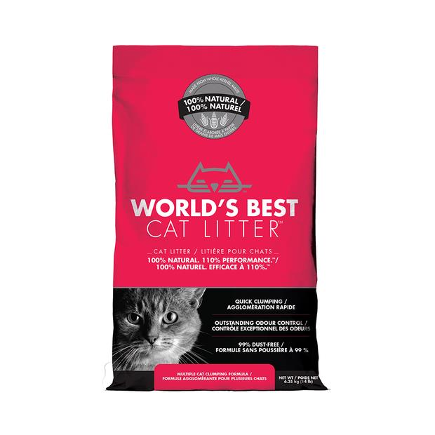 Worlds Best Cat Litter Clumping Multi Cat 6.35kg Pet: Cat Category: Cat Supplies  Size: 6.3kg Material:...