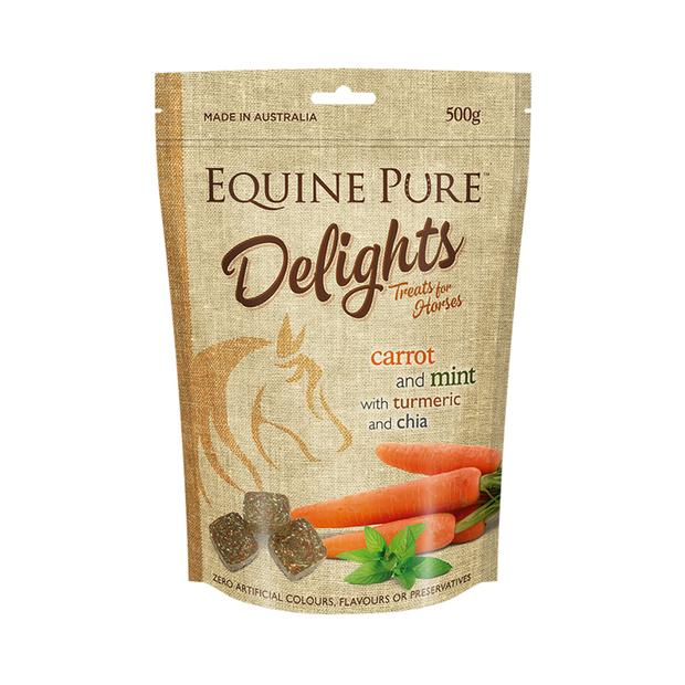 Equine Pure Delights Carrot Mint Turmeric And Chia 500g Pet: Horse Size: 0.5kg  Rich Description:...