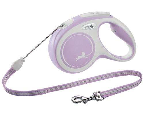 FLEXI COMFORT CORD MED 5M ROSEYou won't want to go anywhere without the Flexi Comfort Tape leash. Easy...