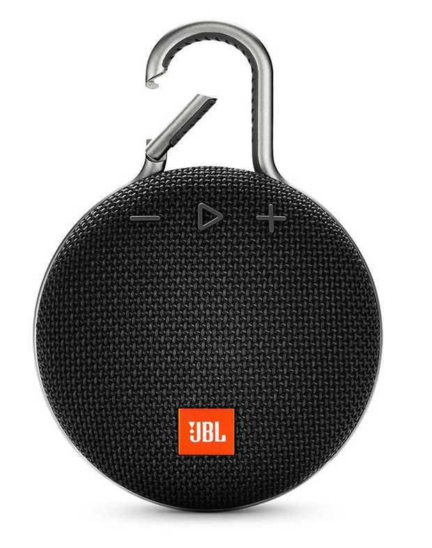 Wireless Bluetooth® Streaming 10 Hours of Playtime IPX7 Waterproof Integrated Carabiner Speakerphone...