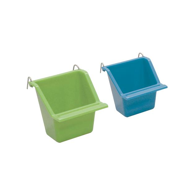 Kazoo Rectangular Feeder 2 Pack Green Purple Large Pet: Bird Category: Bird Supplies  Size: 0.2kg  Rich...